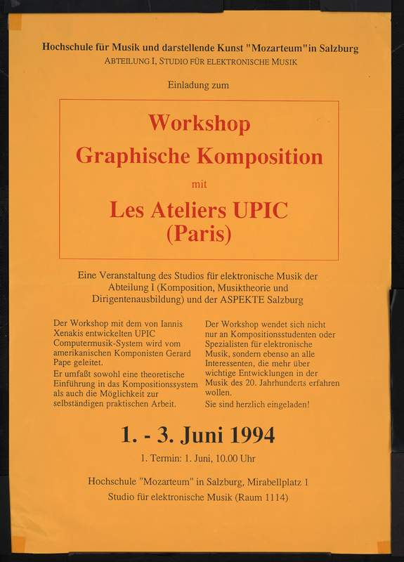 Workshop Graphische Komposition mit Les Ateliers UPIC (Paris)