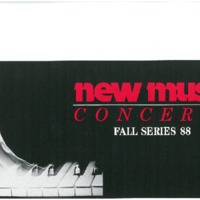 New music concerts, Fall series 88