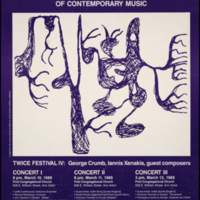 1989 TWICE FESTIVAL OF CONTEMPORARY MUSIC